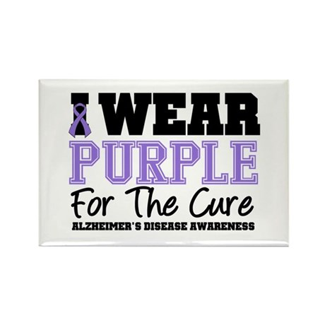 Alzheimer's For The Cure Rectangle Magnet