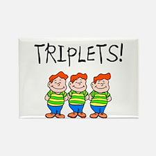 Triplets (Boys) Rectangle Magnet