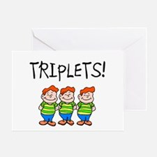 Triplets (Boys) Greeting Card