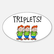 Triplets (Boys) Oval Decal