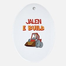 Jalen the Builder Oval Ornament