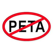 Anti-PETA Oval Decal