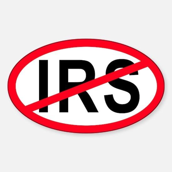 Anti-IRS Oval Decal