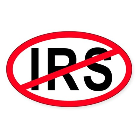 Anti-IRS Oval Sticker