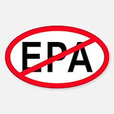 Anti-EPA Oval Decal