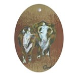 Hereford Diversity Oval Ornament