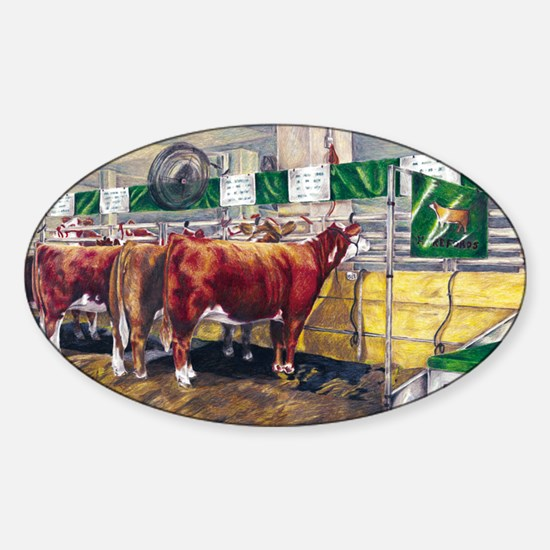 """""""Color of Money"""" Hereford Oval Decal"""