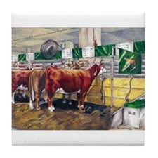 """""""Color of Money"""" Hereford Tile Coaster"""