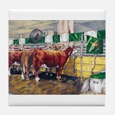 """Color of Money"" Hereford Tile Coaster"