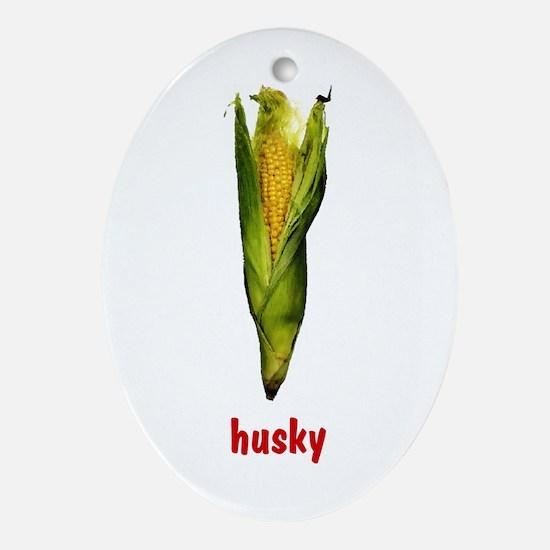 Husky Oval Ornament