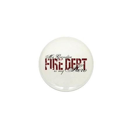 My Grandpa My Hero - Fire Dept Mini Button