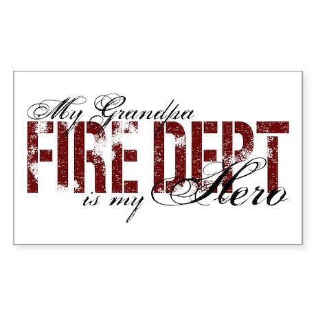 My Grandpa My Hero - Fire Dept Rectangle Sticker