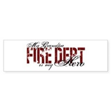 My Grandpa My Hero - Fire Dept Bumper Bumper Sticker