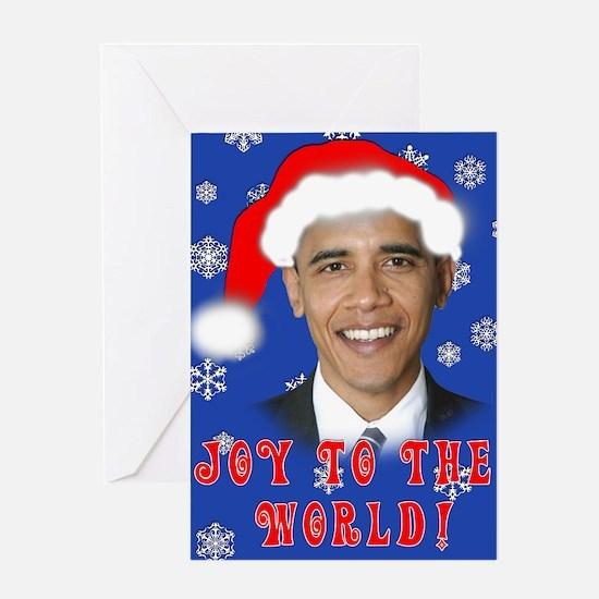 Joy to the World OBAMA Holiday Greeting Card