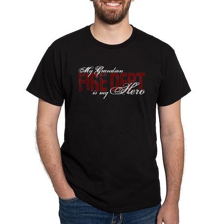 My Grandson My Hero - Fire Dept Dark T-Shirt