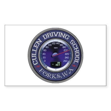 Cullen Driving School Rectangle Sticker