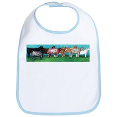 Multi-Breed Cattle Folk Art Bib