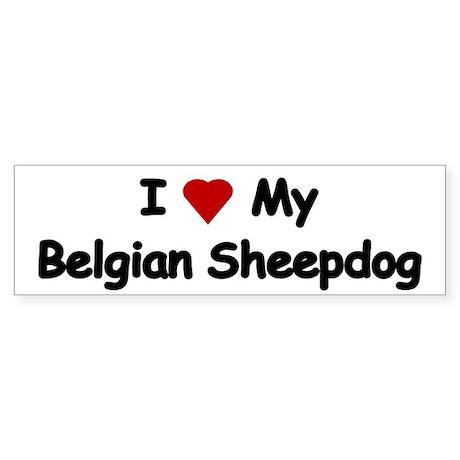 Love My Belgian Sheepdog Bumper Stickers Sticker