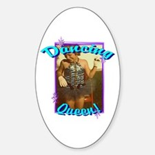 Dancing Queen w/stars Oval Decal