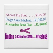 Finding a Cure...Priceless Tile Coaster