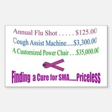 Finding a Cure...Priceless Rectangle Decal
