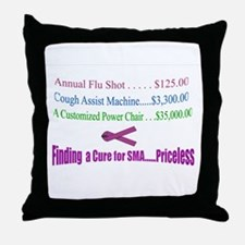 Finding a Cure...Priceless Throw Pillow