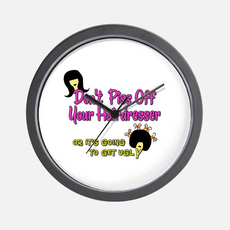 Don't Get Ugly Wall Clock