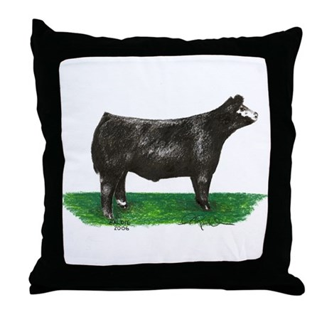 Baldie Steer Throw Pillow