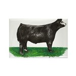 Baldie Steer Rectangle Magnet (10 pack)
