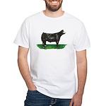 Baldie Steer White T-Shirt