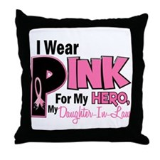 I Wear Pink For My Daughter-In-Law 19 Throw Pillow