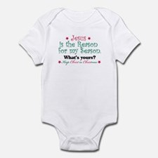 Jesus is my reason Infant Bodysuit