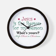 Jesus is my reason Wall Clock