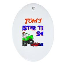 Tom's Monster Truck Oval Ornament