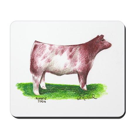 Shorthorn Steer Mousepad