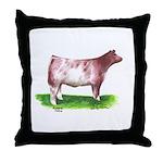 Shorthorn Steer Throw Pillow