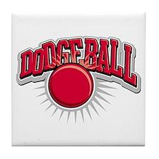 Dodge Ball Logo Tile Coaster