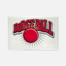 Dodge Ball Logo Rectangle Magnet (10 pack)