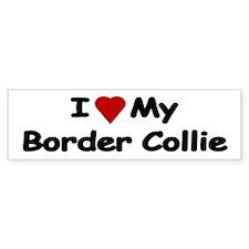 Love My Border Collie Bumper Car Stickers Car Sticker