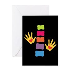 Chiro Hands & Spine Greeting Card