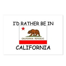 I'd rather be in California Postcards (Package of
