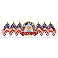 God Bless America Bumper Car Sticker