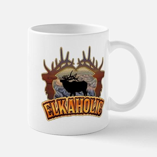 elkaholic elk hunter gifts Mug