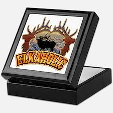 elkaholic elk hunter gifts Keepsake Box
