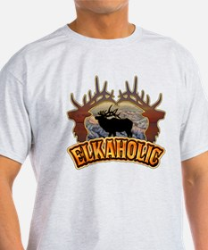 elkaholic elk hunter gifts T-Shirt