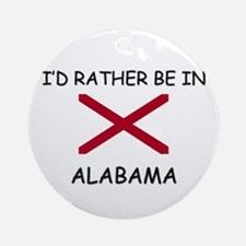 I'd rather be in Alabama Ornament (Round)