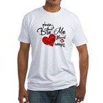Please Bite Me Edward Fitted T-Shirt