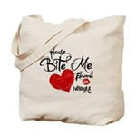 Please Bite Me Edward Tote Bag