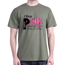I Wear Pink For Fighters Survivors Taken 19 T-Shirt