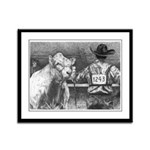 """Is He Lookin' Charolais Framed Panel Print"